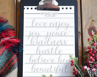 FOUR Beginner Hand Lettering Practice Sheets DIGITAL DOWNLOAD
