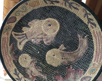 Pisces Mosaic Fish Plate-Home Decor Only