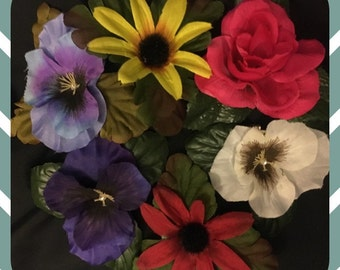 Small Handmade Hair Flowers with clips