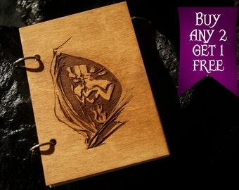 Darth Maul wooden notebook / Star Wars notebook / sketchbook / diary / Star Wars journal / travelbook / Star Wars gift
