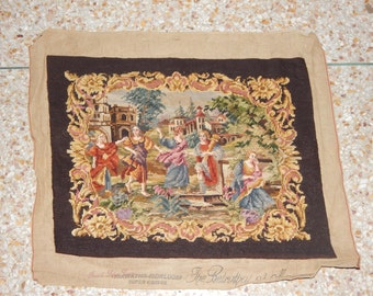 Vintage French Beautiful Petit Point Tapestry 0153