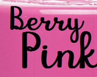 Berry Pink Double sided Personalized Tumbler 30oz or 20 oz