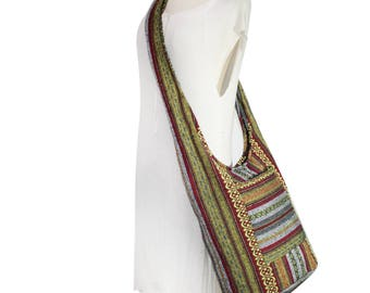 Woven Hippie Bag Handmade Crossbody Bag Shoulder Sling Bag Messenger bag Purse