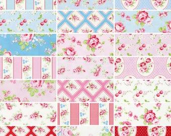 "10""X10"" Charm Pack  Rambling Rose-Tanya Whelan New in Package 42 pcs (221278)"