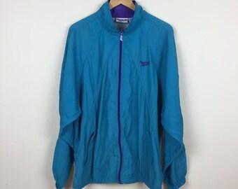90s Teal & Purple REEBOK Track Jacket Size XL, Vintage Reebok Jacket, 90s Reebok Jacket