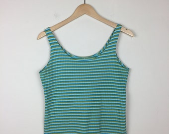 70s Striped Tank Size Large