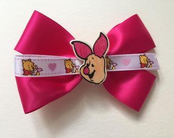 Piglet Inspired Disney Bound Hair Bow Winnie the Pooh