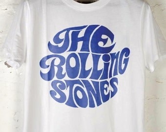 THE ROLLING STONES - 1967 'Fan Club' Vintage Reprint, White T-shirt