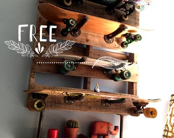 Pallet Refinery Skateboard Rack
