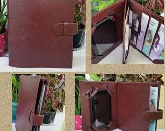 choc brown service organizer with tablet/ipad holder