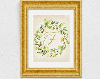 Printable letter F wall decor INSTANT DOWNLOAD