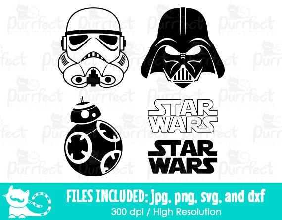 star wars svg  storm trooper darth vader svg  disney digital cut files in svg  dxf  png and jpg