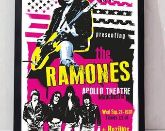 The Ramones music poster. Wall decor art quality print. Unframed