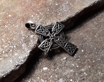 Silver cross pendant Celtic cross pendant Celtic jewellery