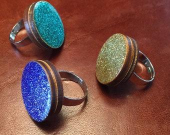 glitter Ring 2, 4 cm