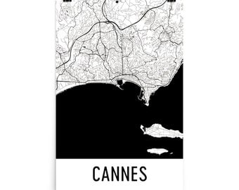 Cannes Map, Cannes Art, Cannes Print, Cannes France Poster, Cannes Wall Art, Map of Cannes, Cannes Gift, Cannes Poster, Cannes Decor, Print
