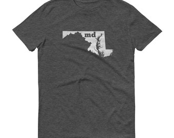 Maryland Tshirt, Maryland, Maryland Shirt, MD Shirt, Maryland Tee, Maryland State Pride, Maryland Gifts, State, Map, Shirt, TShirt, Tee, MD