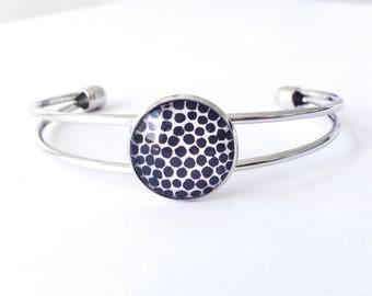 The 'Animalia' Glass Cuff Bracelet