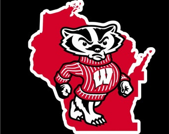 Wisconsin Badgers Decal, Wisconsin Badgers Sticker,