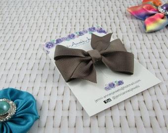 Pinwheel Hair Bow Clip - Browns