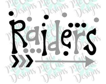 SVG DXF PNG cut file cricut silhouette cameo scrap booking Raiders