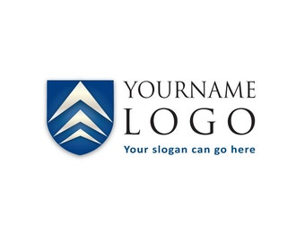 Pre-Made LOGO DESIGN - Customized with Your Name! - Shield Logo - University Logo