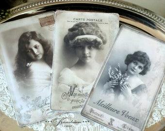 Post card set - Meilleurs Voeux-vintage style