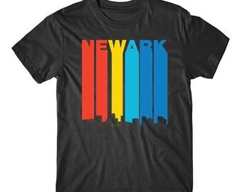 Vintage 1970's Style Newark New Jersey Skyline T-Shirt