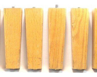 Set of Six Hardwood Wood Six Inch Legs for Crafting Projects