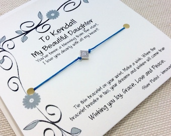 Daughter Gift From Mom Gift For Daughter Mom To Daughter Card Daughter Bracelet Daughter Gift