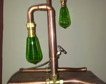 Steampunk/Industial Gatevalve Lamp