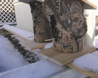 Rustic Hollow Log Birdhouse