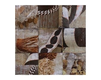 Ropes   Patchwork Collage   Mixed Media   20x20cm