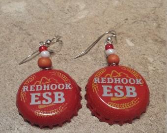 Redhook ESB 'Beerings' Bottle Cap Earrings