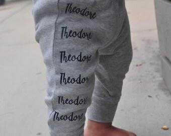Baby pants, baby name pants, baby boy leggings, baby name leggings, custom baby leggings, personalized baby leggings