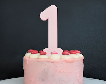 Number Cake Topper - Amazing colours - TopsOfMelbourne - Birthday Numbers -