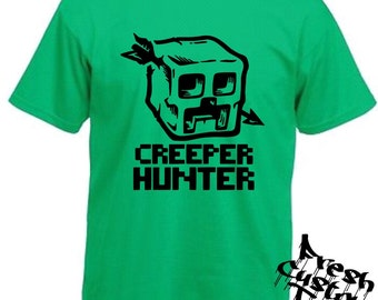 Minecraft Creeper Hunter Kids Gaming T-Shirt