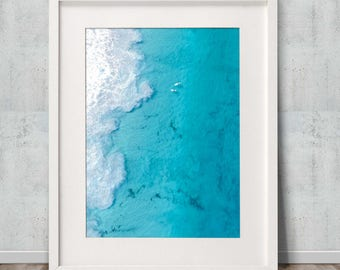 Big Blue - Poster Print, Wall Art, Drone, Aerial, Photography, Home Decor, Ocean, Beach, Poster