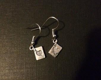 The joker inspired playing card earrings