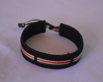 Maasai Beaded Kenyan Flag Bracelet |  Black Masai bracelet - One piece