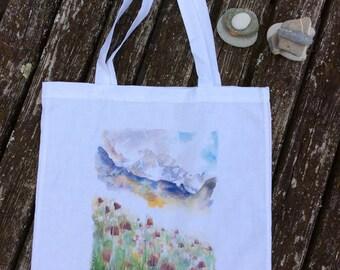 Meadow floral tote bag