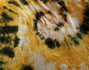 Yellow, Black, and White Tye Dye