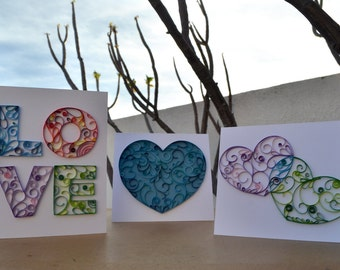Valentine's day cards. Valentine's day cards. filigree quilling 14 February february 14th in love love and friendship hearts love
