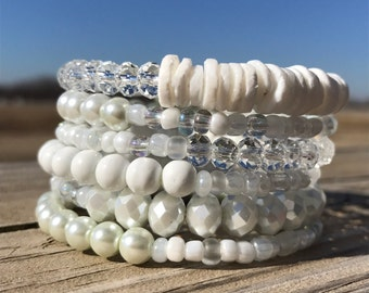 Not your mama's pearls wrap bracelet
