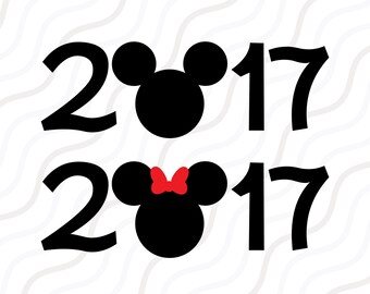 2017 Mickey Mouse SVG, Disney Castle SVG, 2017 SVG Cut table Design,svg,dxf,png Use With Silhouette Studio & Cricut_Instant Download