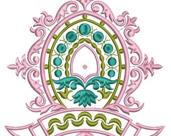 Machine Embroidery Design Gold Monogram Blank,monograms pattern,paadar club