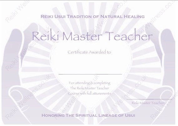 Download Complete Set Reiki Certificate Templates x4