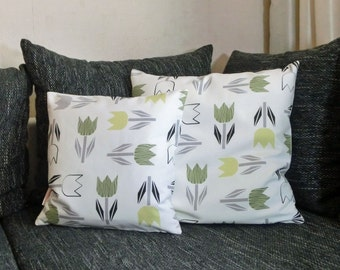 "Pillowcase ""Green tulips"" in the 2-Pack"