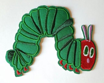 The Very Hungry Caterpillar Iron on Patch - Very Hungry Caterpillar Applique - Ready to Ship