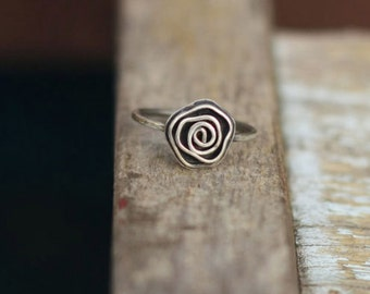 Sterling silver ring Rose